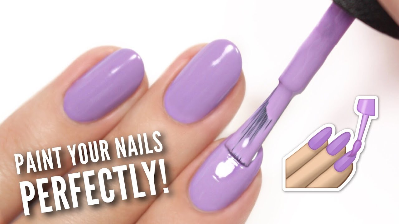 Paint Your Nails PERFECTLY At Home! - YouTube