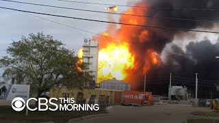 Gambar cover Massive fire still burning after Texas chemical plant explosions