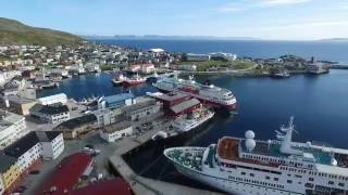 Cruise Ships In Honningsvåg, 29.05.2016 Hd Drone Footage