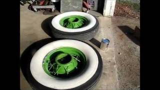Wheels Off! rat rod repainting white walls