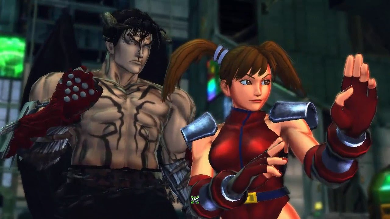 [PC] Street Fighter X Tekken - Playthrough as Jin's Devil Jin&Xiaoyu's Dictator Costum