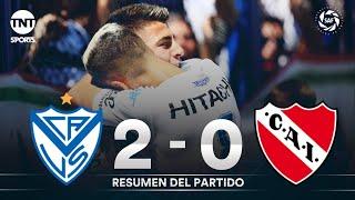 Vélez le ganó a Independiente y se puso a tiro de la punta