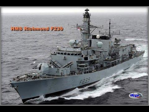 Royal Navy - HMS Richmond  Frigate F239 in Limassol Cyprus