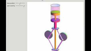 Rhombic Drive for Stirling Engine