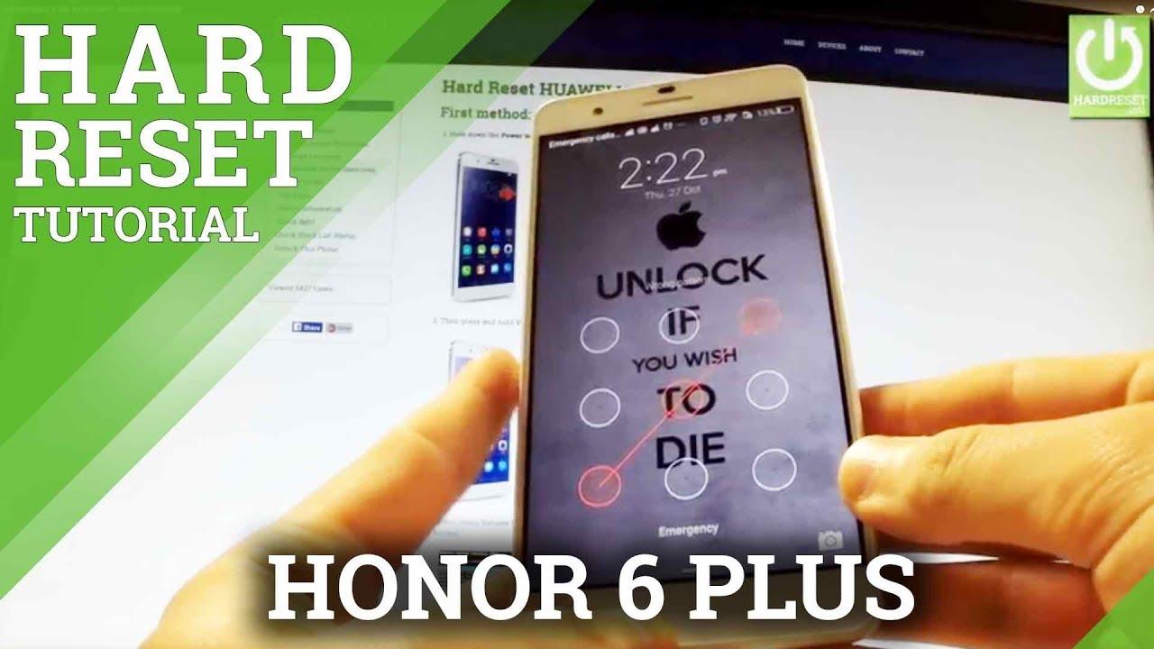 HUAWEI Honor 6 Plus HARD RESET - REMOVE PASSWORD