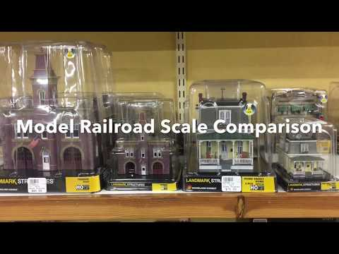 Model Train Built Ready Buildings Size Comparison HO, O, and N Scales