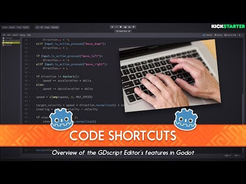 Shortcuts to Code Faster in the GDscript Editor (Godot tutorial