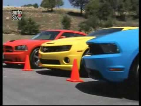 Charger Vs Challenger >> Ford Mustang Gt vs Chevrolet Camaro vs Dodge Charger - YouTube