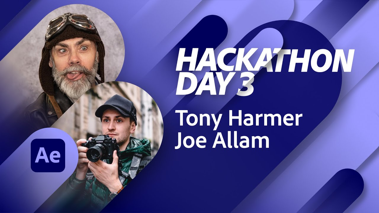 The Tony Harmer Hackathon Day 3: Animation in After Effects | Adobe Live