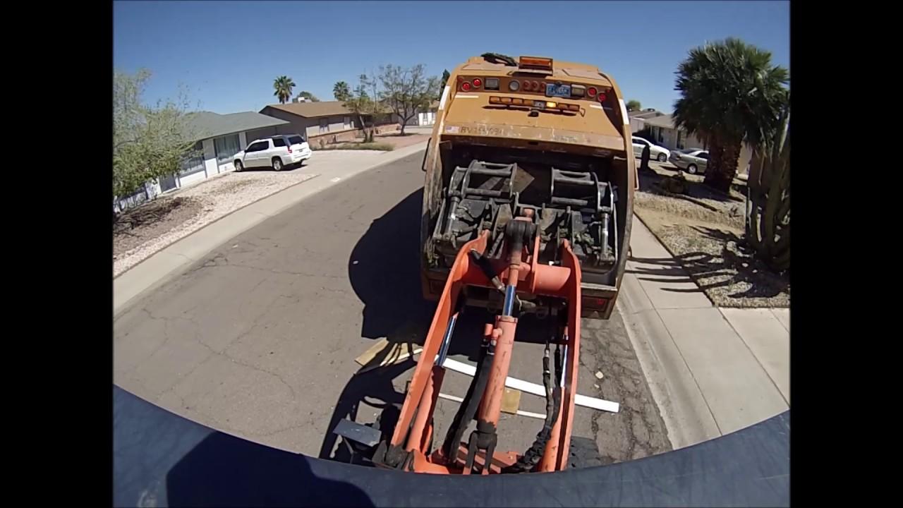 Phoenix Bulk Trash Tractor Go Pro Youtube