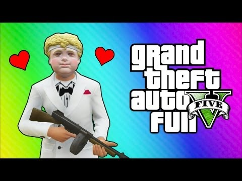Thumbnail: GTA 5 Online Funny Moments - Valentine's Day Massacre DLC, Kisses, Cupid Mask, Roosevelt Vehicle!