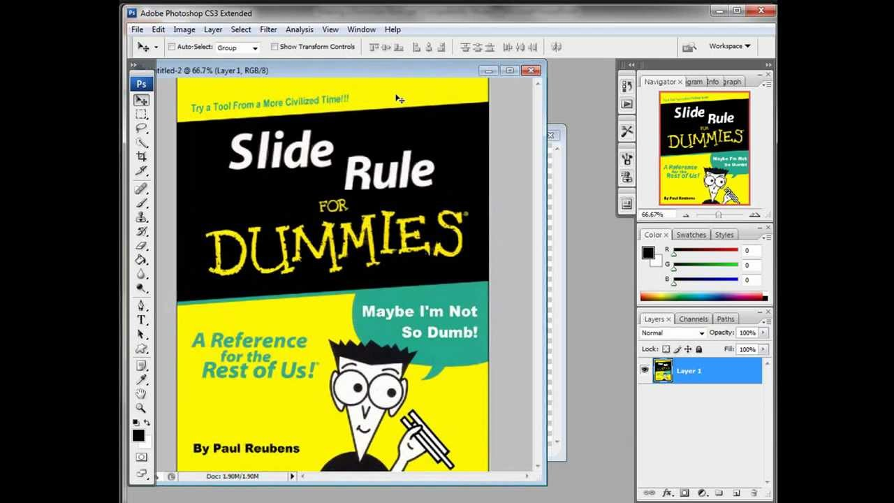 Photoshop making a dummies book mock up youtube for For dummies template book cover