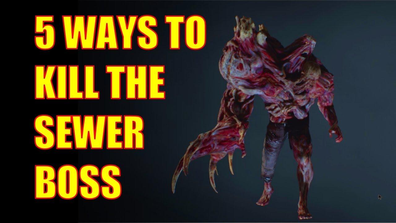 Resident Evil 2 Remake Walkthrough 5 Ways To Kill The Sewer Boss
