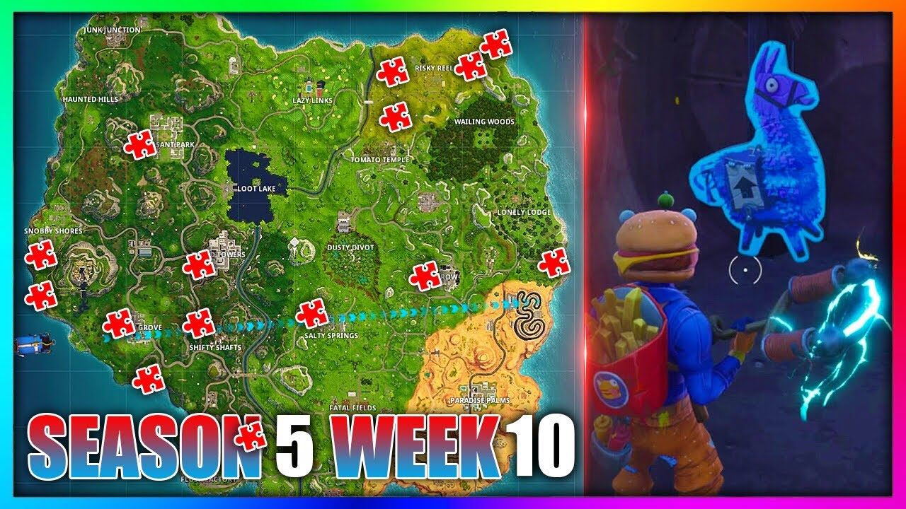 search jigsaw puzzle pieces in basements fortnite week 10 location guide - search jigsaw puzzle fortnite