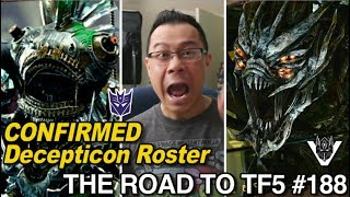 CONFIRMED Decepticon Roster finally - [THE ROAD TO TF5 #188]