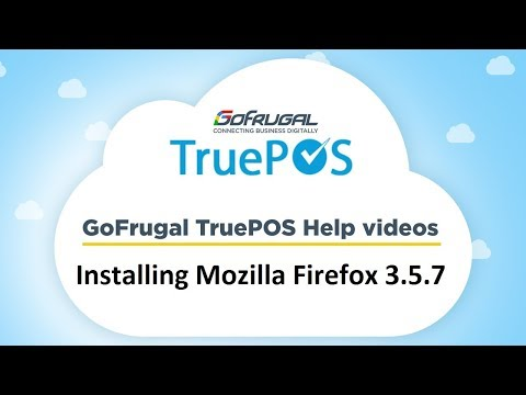 GoFrugal TruePOS - Step 2 : Installing Mozilla Firefox 3.5.7 | Offline Setup
