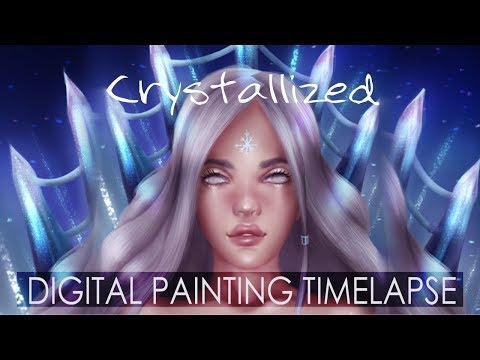 Crystallized | Digital Painting Timelapse
