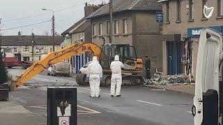 Garda crime scene investigators examine ATM robbery in Dunleer Co. Louth