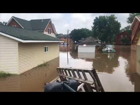 Flooding in Mazomanie, WI. August 21, 2018.