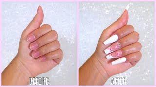 DIY Easy Fake Nails! *no acrylic or damage*