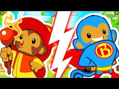 MONKEY APPRENTICE CHALLENGE (ONLY WIZARDS)! - BLOONS TOWER DEFENSE 5