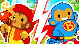 MONKEY APPRENTICE CHALLENGE (ONLY WIZARDS)! - BLOONS TOWER DEFENSE 5 | JeromeASF