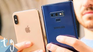 DUELO DE TITANES: iPhone XS Max vs Samsung Galaxy Note 9