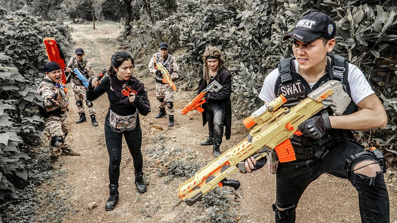 LTT Game Nerf War : Couple Warriors SEAL X Fight BOSS Crime Rocket Crazy Destroy Enemy's Lair