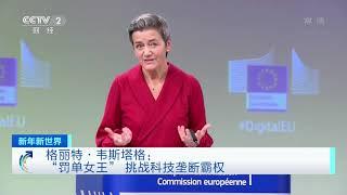 """[2021新年新世界]格丽特·韦斯塔格:""""罚单女王"""" 挑战科技垄断霸权  CCTV财经 - YouTube"""
