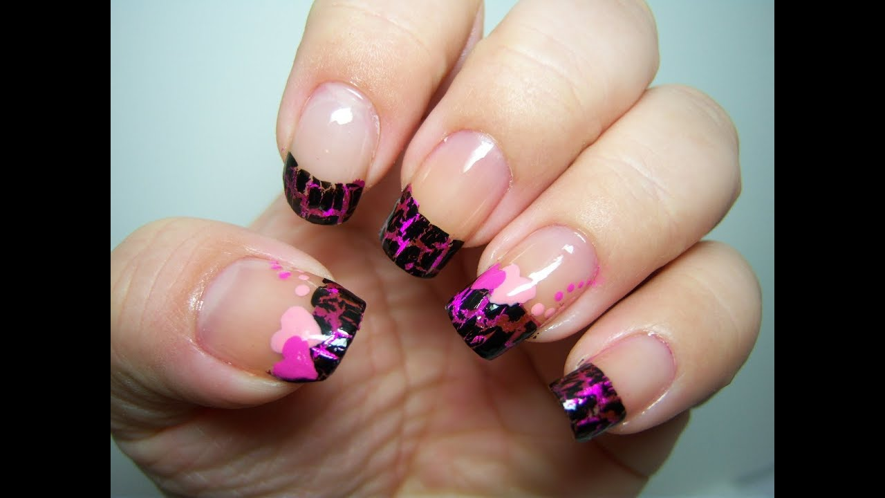 Pink Foil+ OPI Shatter U003d Cute Valentine Nail Design  Dollface22772s Valentine  Nail Art Contest   YouTube