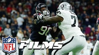 Jadeveon Clowney Mic'd Up for His Incredible INT vs. Raiders (AFC Wild Card) | NFL Turning Point