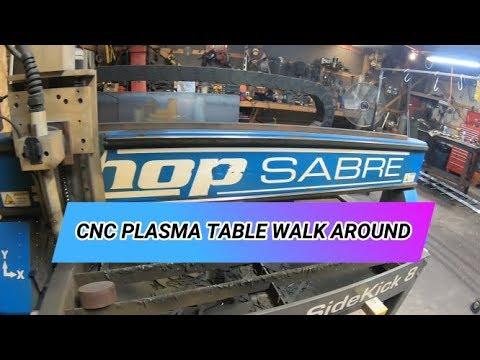 Walk around of the ShopSabre CNC plasma table.