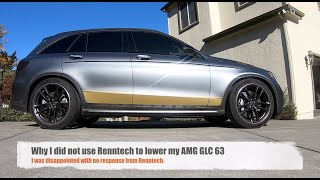 Why I did not use Renntech to lower my AMG GLC 63