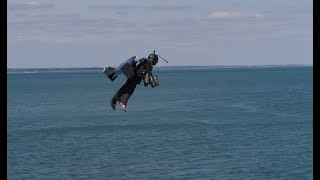 A LETTER SENT BY RICHARD BROWNING WITH A JETPACK CROSSING THE SOLENT