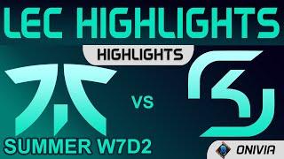 FNC vs SK Highlights LEC Summer Season 2021 W7D2 Fnatic vs SK Gaming by Onivia