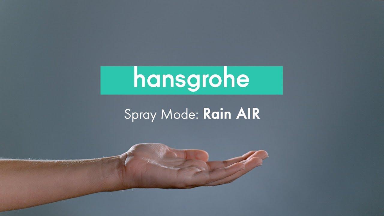 hansgrohe Spray Mode - Rain AIR - YouTube