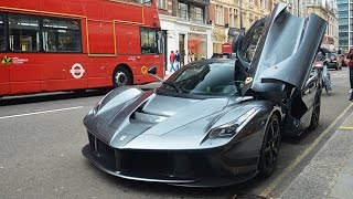 Gordon Ramsay driving his Ferrari LaFerrari in London!