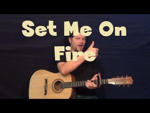 Set Me On Fire (Flyleaf) Easy Guitar Lesson How to Play Tutorial