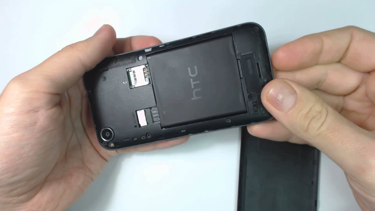 How to remove back cover and battery on Htc Desire 320