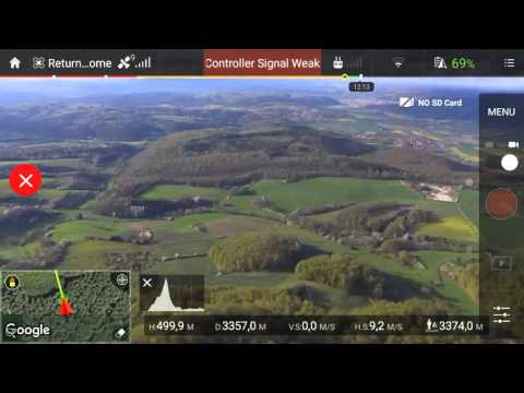 DJI Phantom 3 Standard Long Range Flight CE Mode Max. Distance 4134m 13564ft with DIY Antenna Mods
