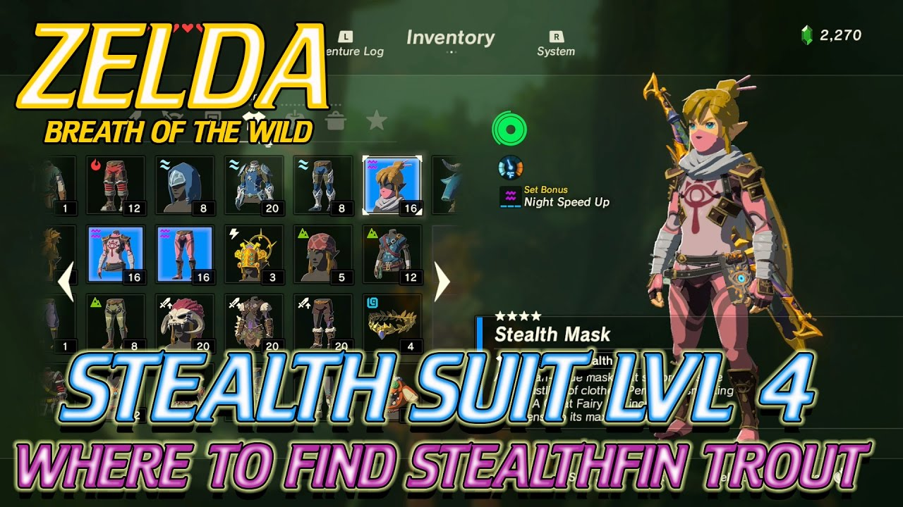 Zelda Breath Of The Wild Where To Find Stealthfin Trout