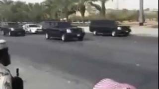 ي King Abdullah Of Saudi Arabia Security Entourage Fleet of Luxury/Sports Cars Must SEE سعودي