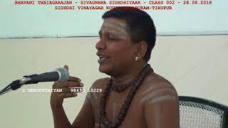 Bhavani Thiagarajan - Sivagnana Sidhdhiyaar - Class 002 - Part 03 - Tirupur