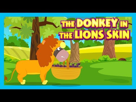 THE DONKEY IN THE LION'S SKIN - KIDS HUT STORIES || KIDS STORIES - MORAL STORY FOR KIDS