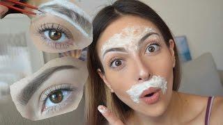 Como Depilar La Ceja Y El Bigote En Casa Anna Sarelly Youtube