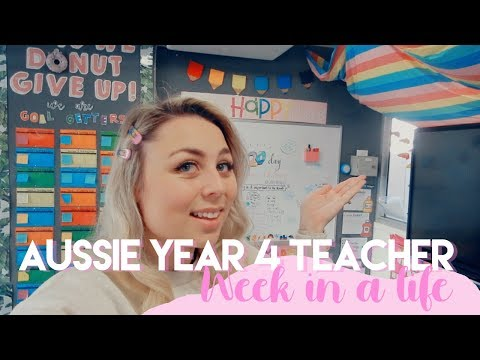 AUSSIE YEAR FOUR TEACHER WEEK IN A LIFE