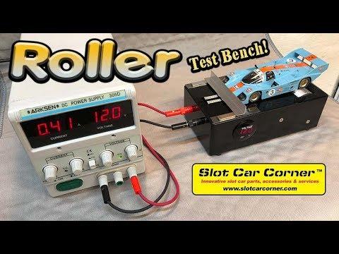 Slot Car Corner Roller Test Bench