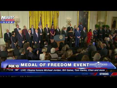 FNN: 2016 Medal of Freedom Ceremony - Obama Honors Michael Jordan, Bill Gates and More