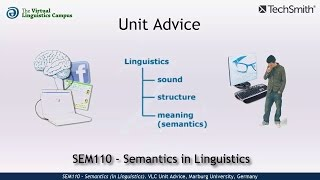 SEM110 - Unit Advice (Semantics in Linguistics)