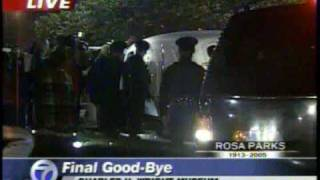 This is RARE Footage of the the early morning tribute to the life of Ms Rosa Parks